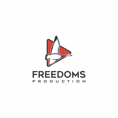 bold logo for freedoms productions