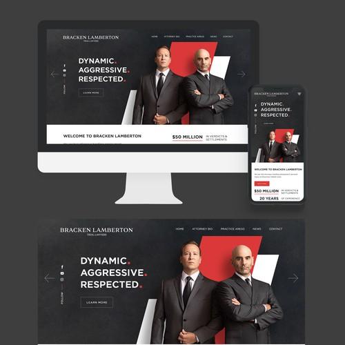 Bold and Aggressive Webdesign for Bracken Lamberton