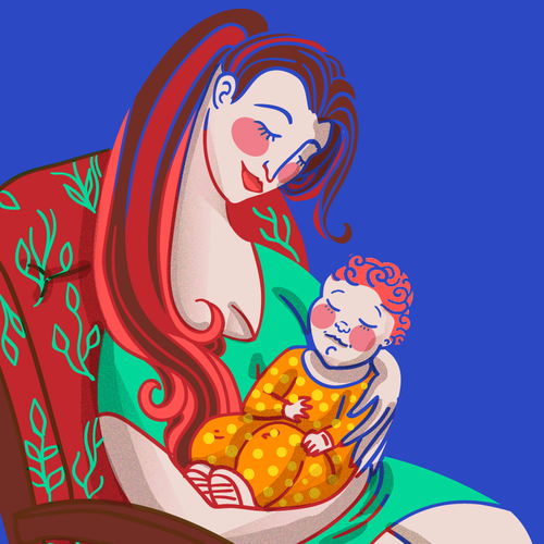 Illustration for baby company