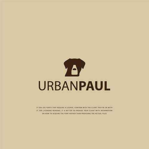 Flat minimalist logo concept for UrbanPaul