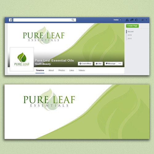 Facebook cover for Pure Leaf Essentials