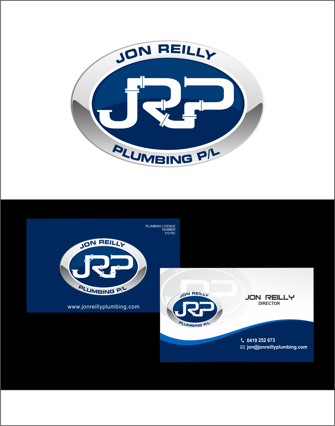 Help Jon Reilly Plumbing P/L with a new logo and business card