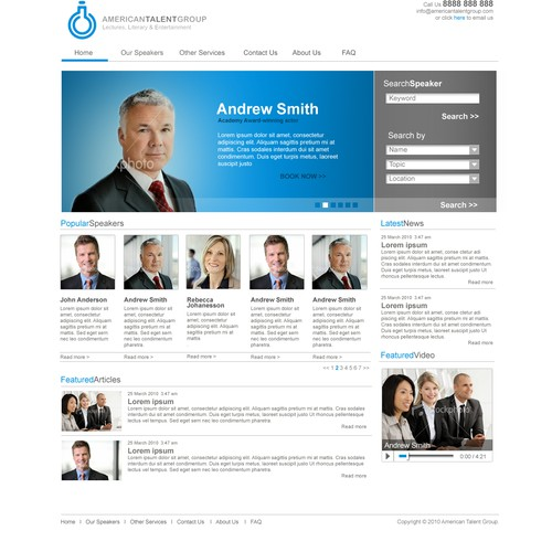 HOT NEW TALENT AGENCY WEBSITE DESIGN