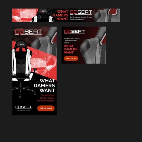 Create Banner Ad Set for Gamers for OPSEAT