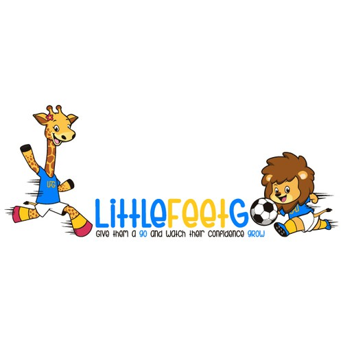 create a fun and playful logo design for soccer coaching for kids age 1-8 years old