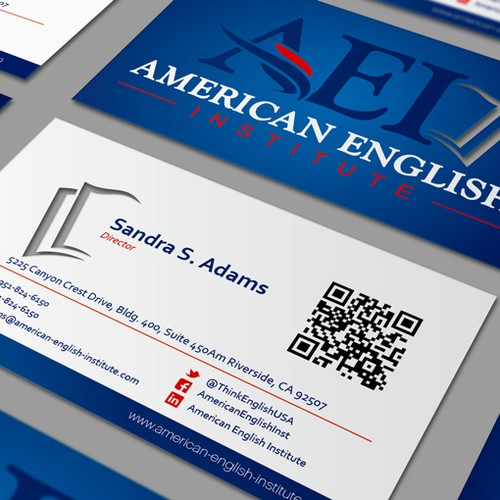 American English Institute needs a new stationery