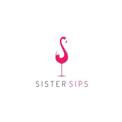 A fun and elegant logo for a wine club