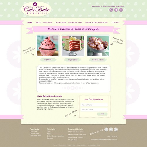 The Cake Bake Shop needs a new website design