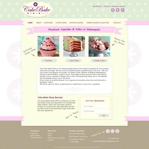 The Cake Bake Shop needs a new website design