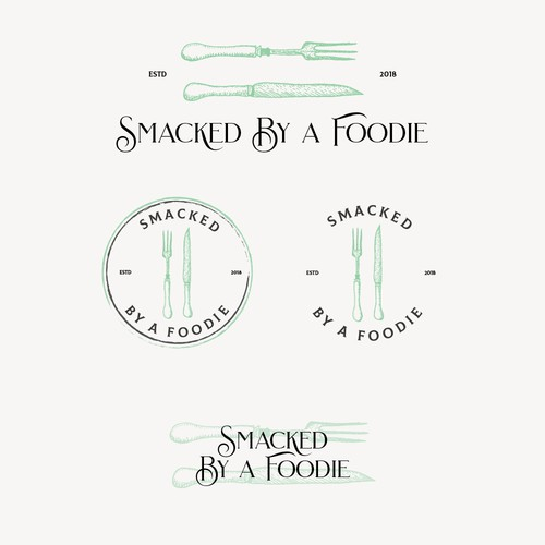 Logo Design Concept for Smacked by a Foodie