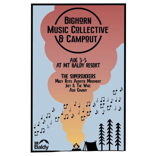Minimalist Music Festival Poster