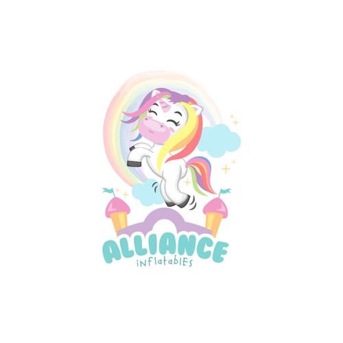 Logo Design Concept for Alliance Inflatables