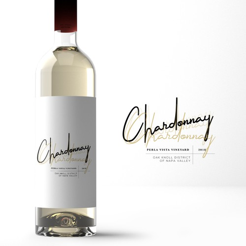 Chardonnay - wine label -