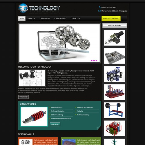 3D Technology Website update
