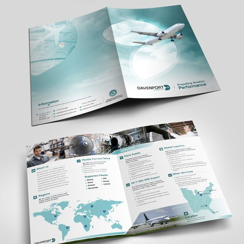 GLOBAL AVIATION SUPPLIER SEEKING FRESH DESIGN FOR MARKETING BROCHURE