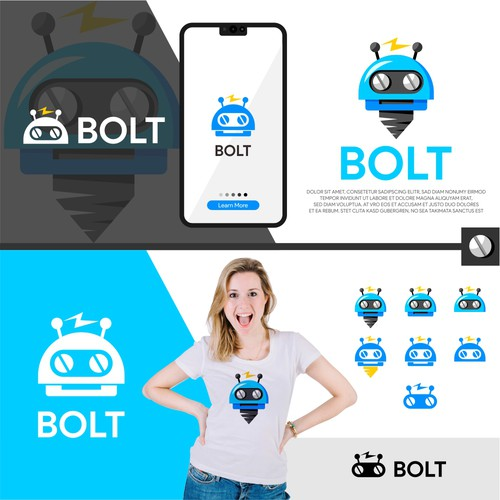 Software project looking for a bold robot logo