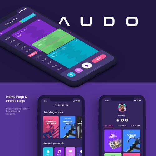 UI/UX Design for Social Audio App