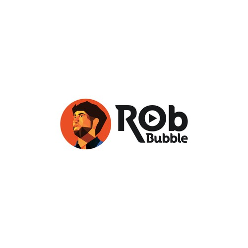 Polygonal logo concept for RobBubble