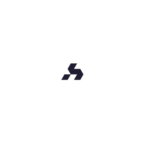 Modern monogram - geometric style