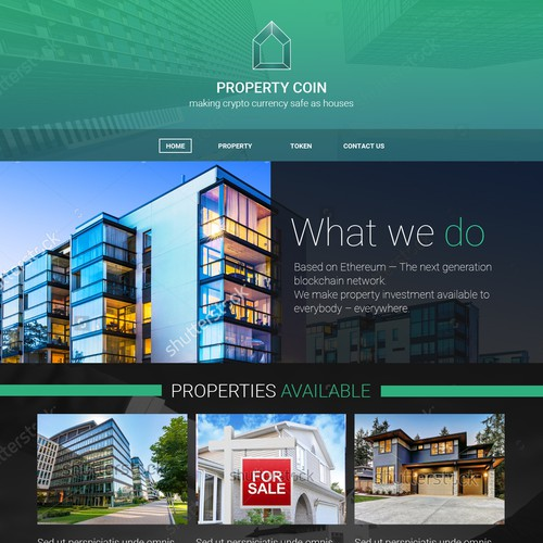 Template Design for Propertycoin