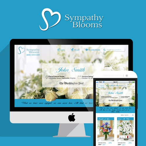 Create a landing page for Sympathy Blooms!  Help our customers send their condolences...