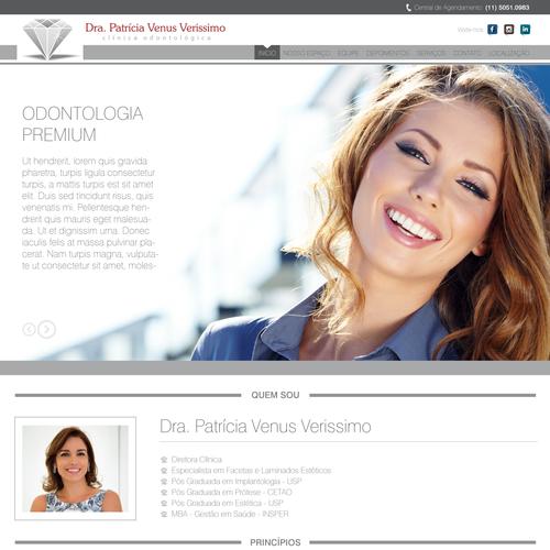 Site - Clínica Odontológica - Dra. Patrícia Veríssimo