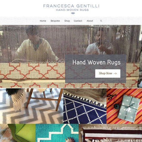 Design a new website for an exciting new rug brand