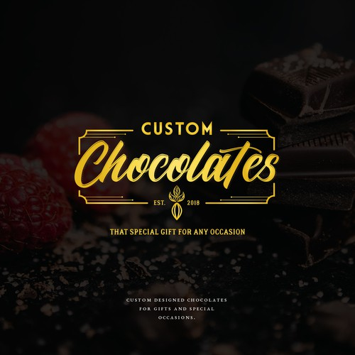 Classic logo for a chocolate brand.