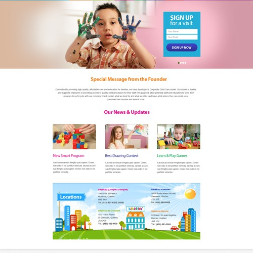 website design for Bébékidz