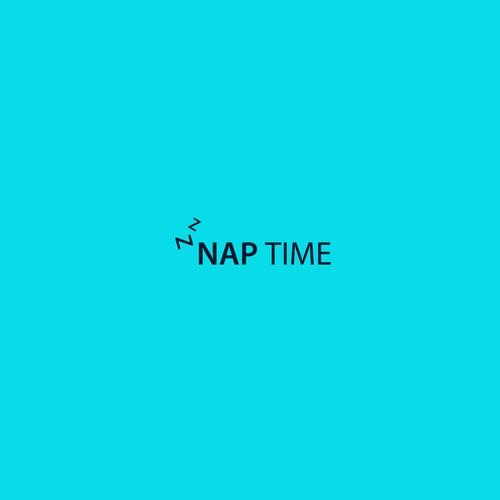 NAP TIME logo design.