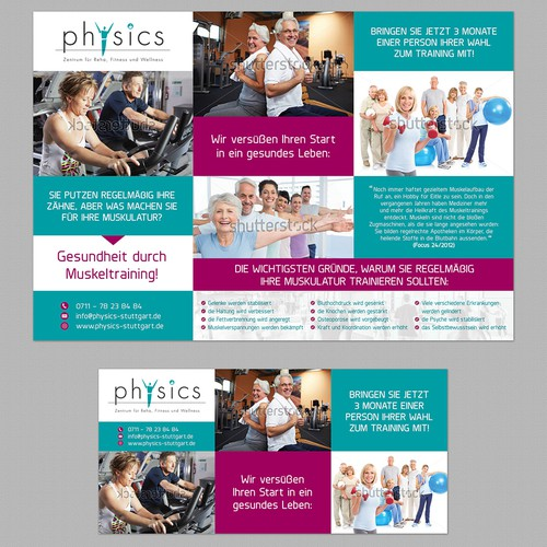 Flyer and ad for Fitness and Health center
