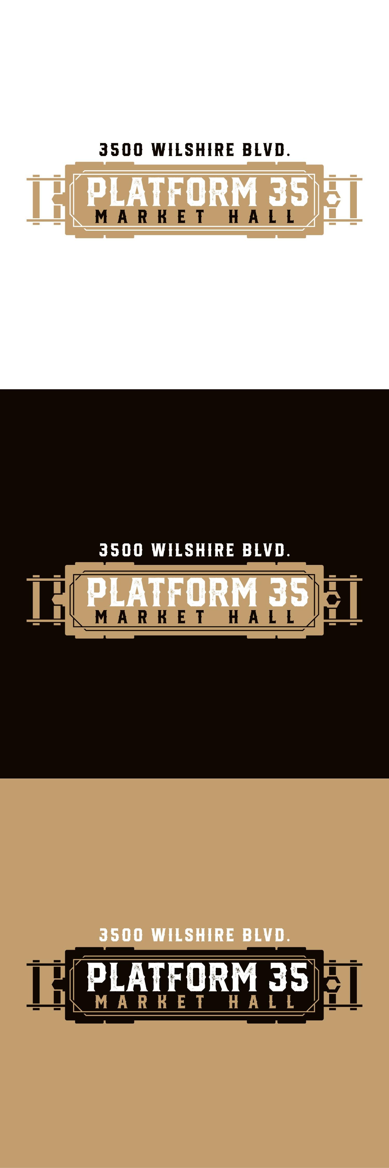 New Logo Design for an LA Food Hall - Platform 35