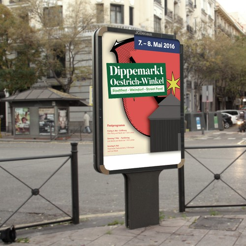 Plakat für den »Dippemarkt«
