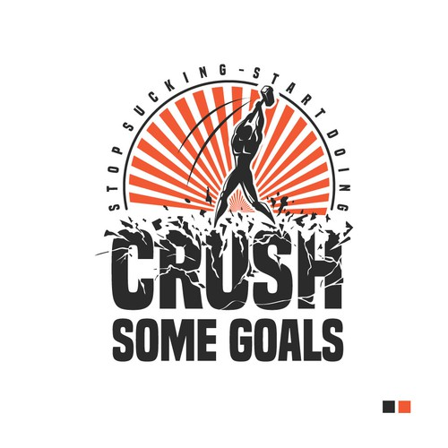 Logo For New Self Development Website - Crush Some Goals - GUARANTEED PRIZE!!