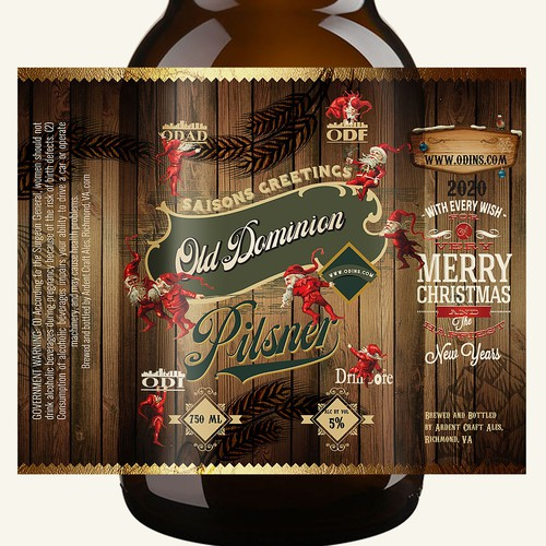 xmass beer label