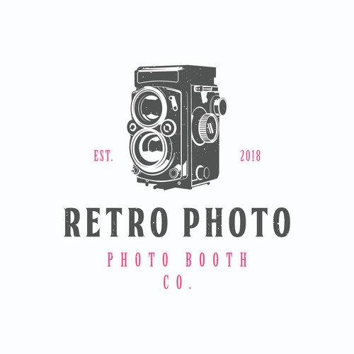 concept logo for retro photo