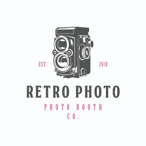 concept logo for retro photo