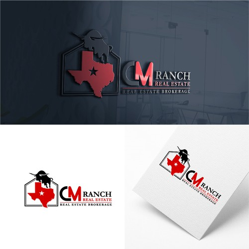 Bold logo concept for CM Ranch Real Estate