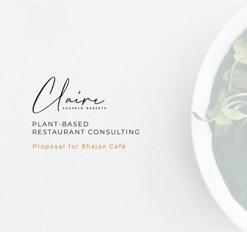 Minimalistic, arty Restaurant Consulting presentation