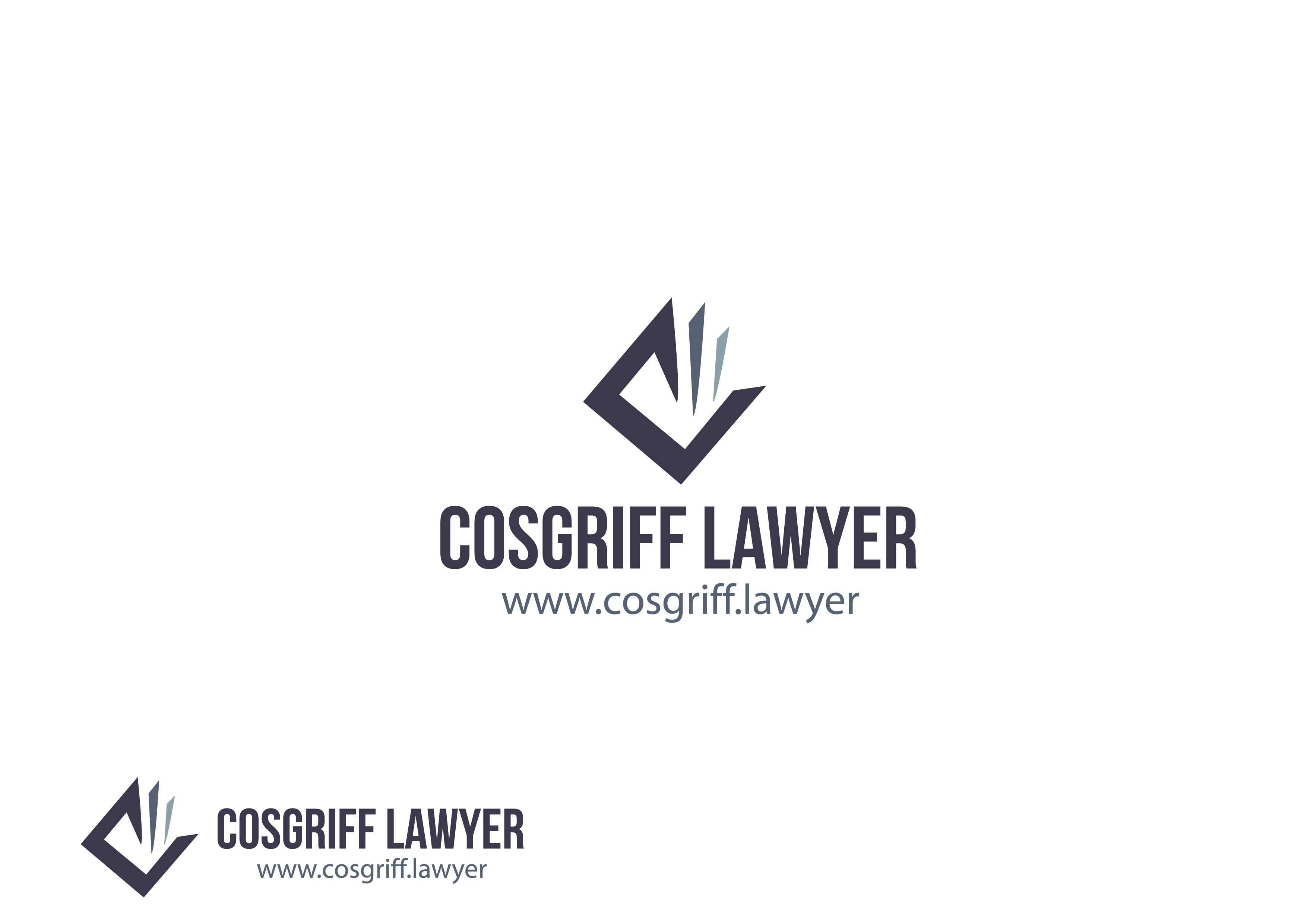 """""""Cosgriff Lawyer"""" need a sleek new logo corperate & I.D."""