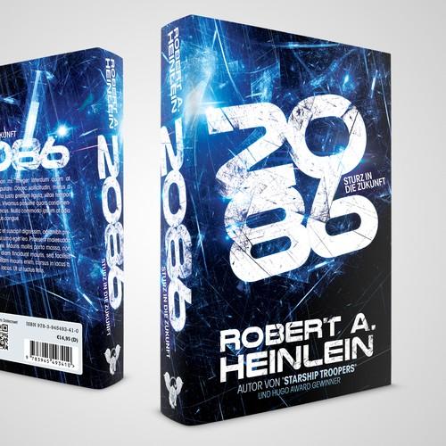 Winning book cover design for sci-fi novel