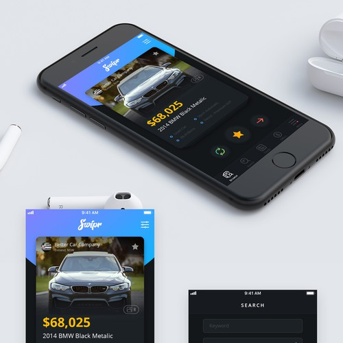 App concept for buy sell automotive