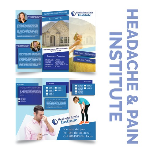 A brochure for headache and pain institute