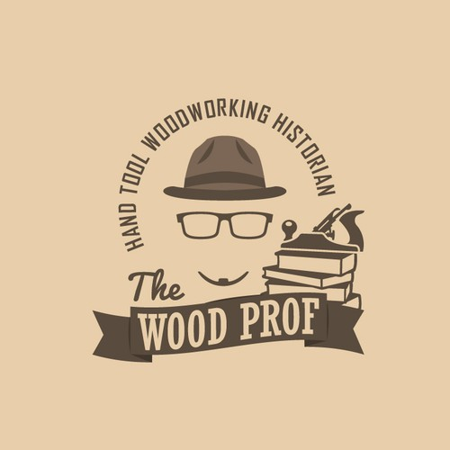 Vintage Logo for Professor of Woodworking