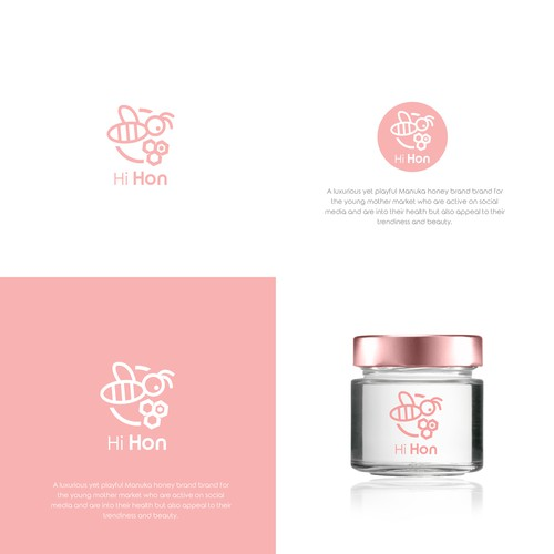 Feminine logo for Manuka product line