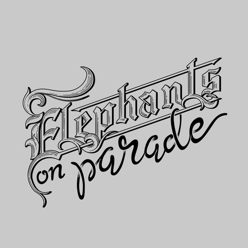 Tshirt Design for Elephants on Parade