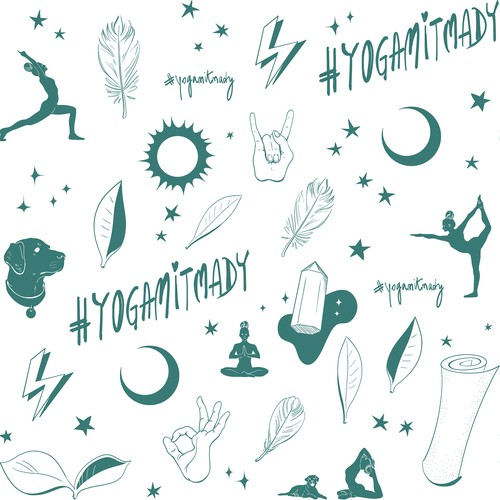 Wrapping paper pattern design for yoga studio