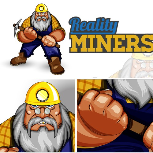 Logo with Character for Reality Miners