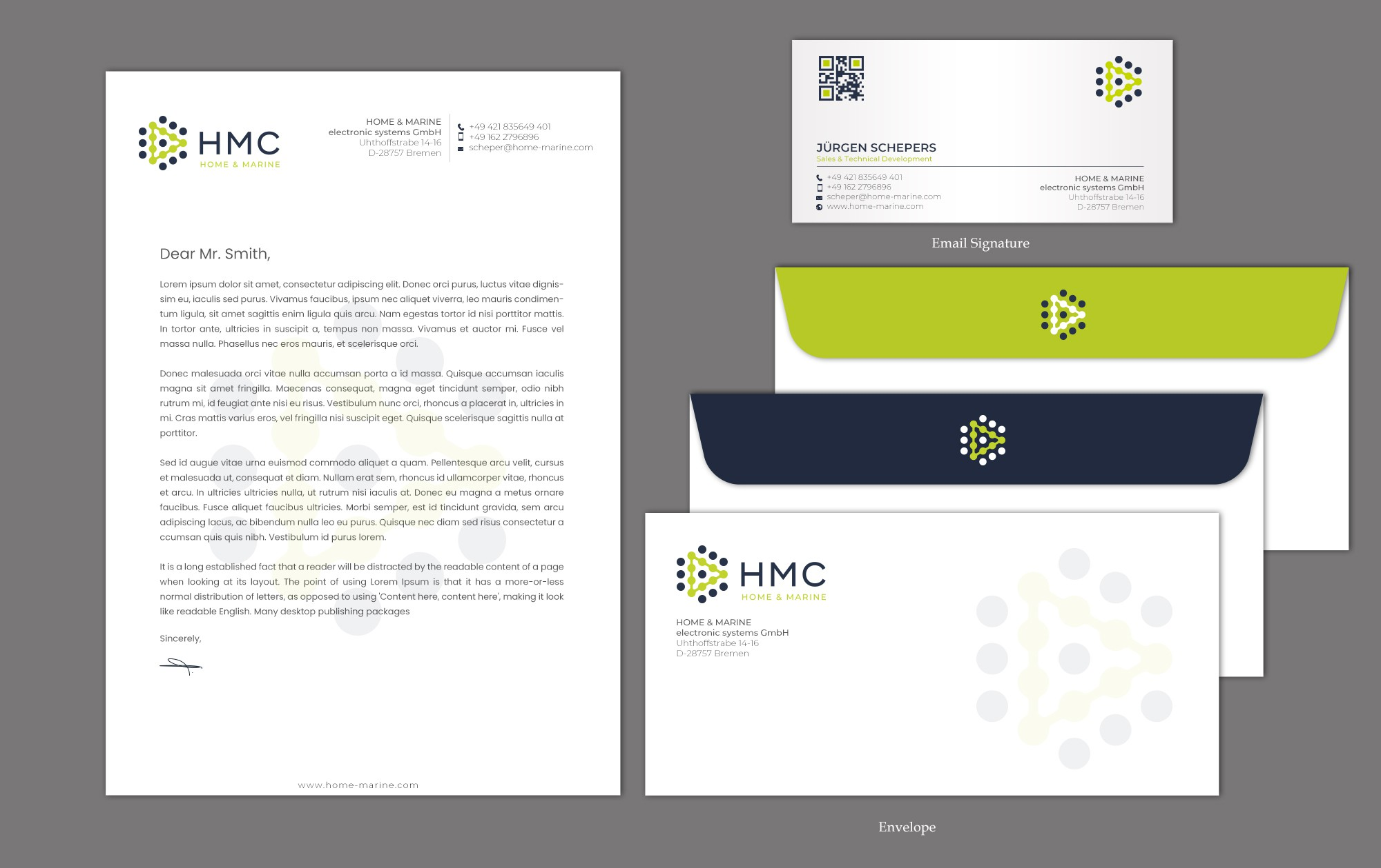 Collateral Materials for Superyacht & Cruise Ship Company (existing logo)