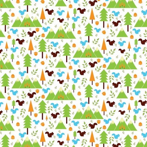 Repeating Pattern Design Diapers